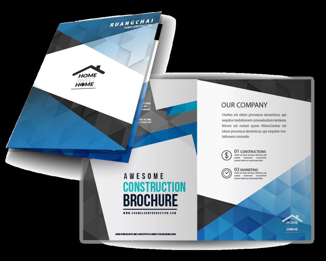 Two fold brochure design printing chameleon production for Two fold brochure design