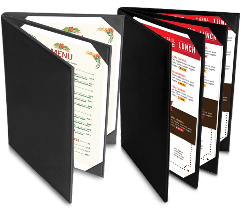 3 Panel Book menu, page koh samui thailadn