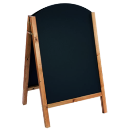 Chalkboard die cut down frame