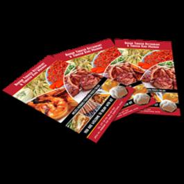 Flyer Graphic Design Printing Chameleon Production Koh Samui Thailand