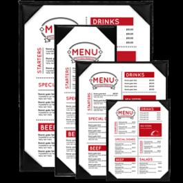 Single panel menu, design, printing, koh samui, thailand, 1 page menu