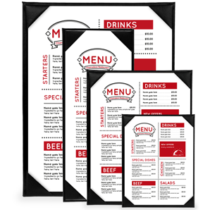 Single panel menu, design, printing, koh samui, thailand, 1 page menu