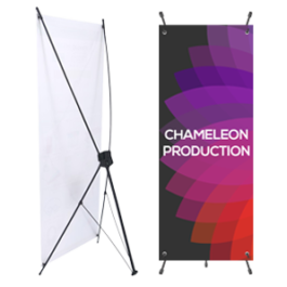 X Stand Sign Printing Design Chameleon Production Koh Samui Thailand