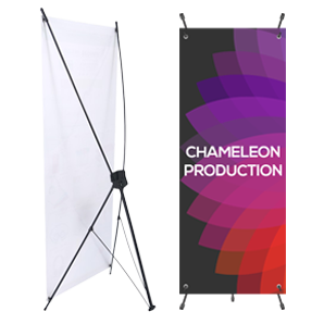 X Stand Sign Printing Design Chameleon Production Koh Samui Thailand