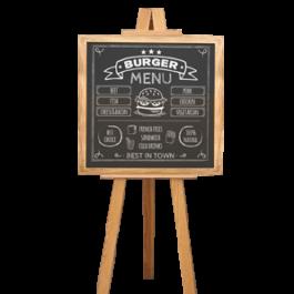 easel frame chalkboard, thailand, chameleon production koh samui