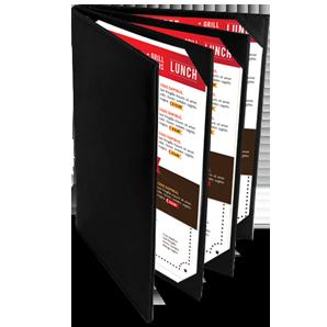panel book menu multible page restaurant menus koh samui thailand