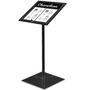 pedestal menu stand