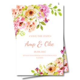 Wedding Card Printing Graphic Design Koh Samui Thailand