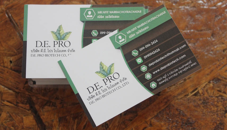 business cards printing design samui thailand