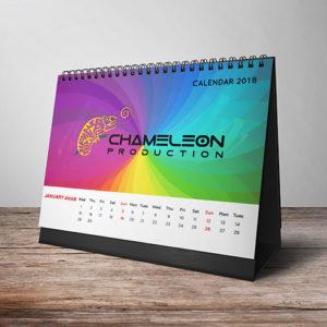 calendar 2018 thai printing graphic design, Designer Chameleon Production Koh samui