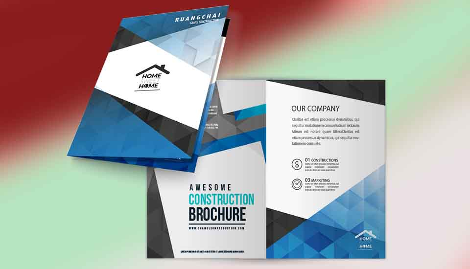 Advertising brochure koh samui thailand