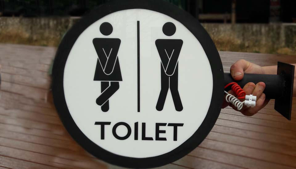 Toilet sign lightbox tamsaby restaurant lamai beach koh samui