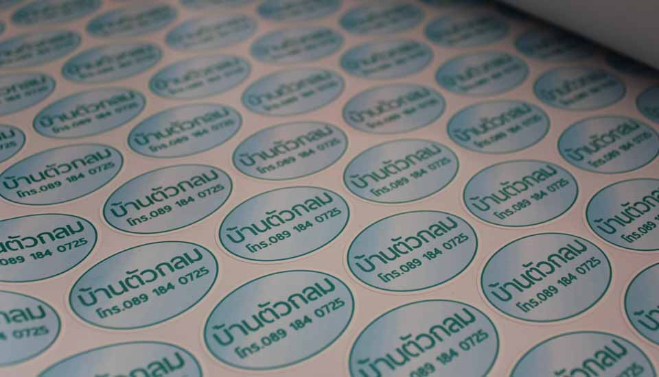 pvc oval sticker. printing, graphic design, koh samui thailand