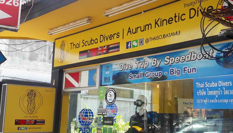 Lightbox wall mouting scuba diving shop lamai beach koh samui, manufacturing chameleon production taling ngam