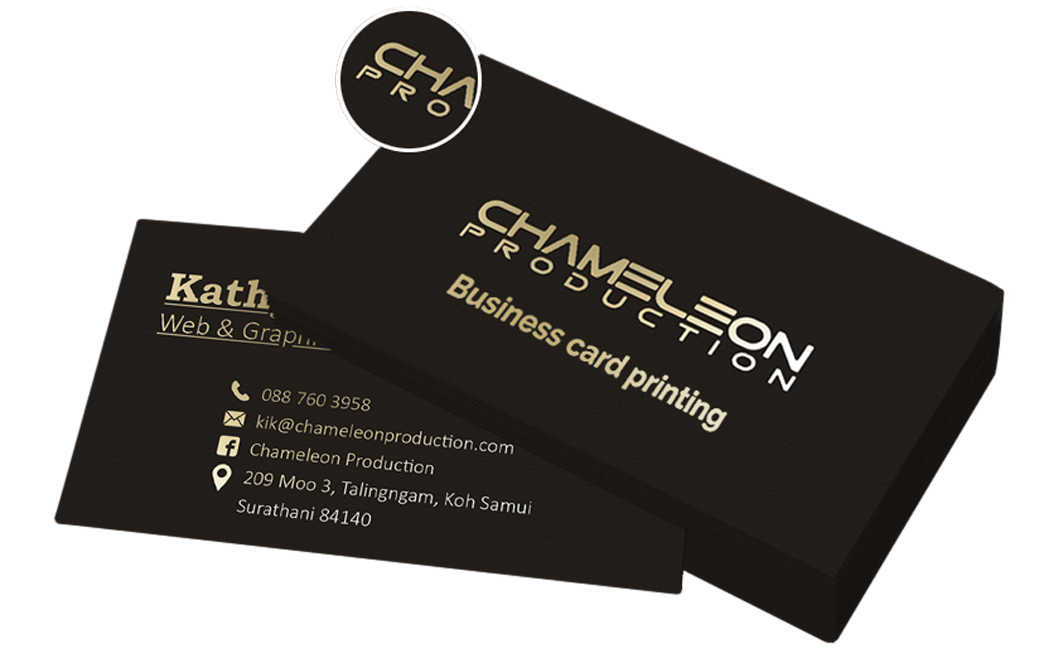 business card printing samui thailand.