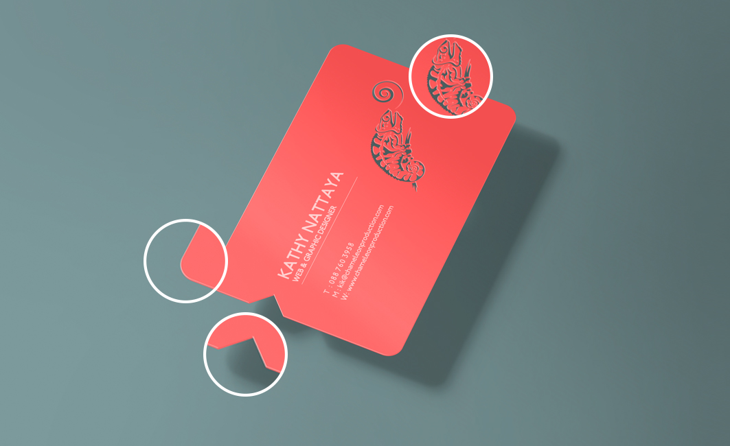 business card printing and design service company koh samui thailand