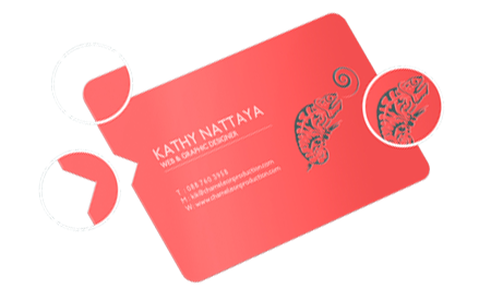 die cut business card with rounded corner card