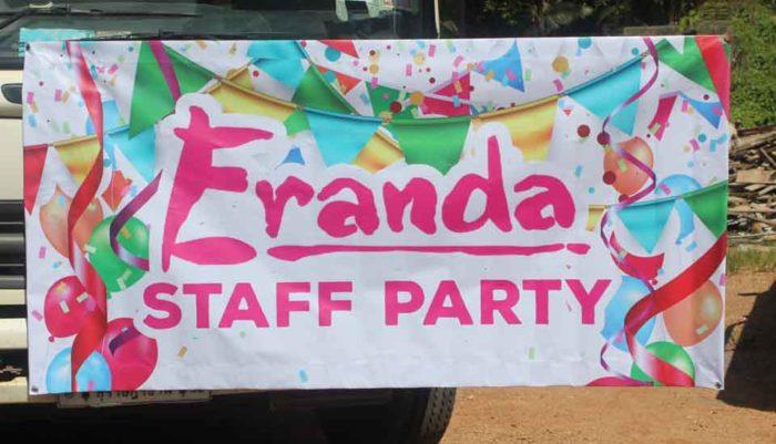 franda staff party vinyl printing one sided