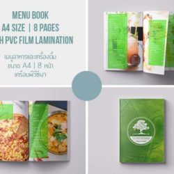 Menu Design Koh Samui. A4 size, 8 pages, PVC film lamination