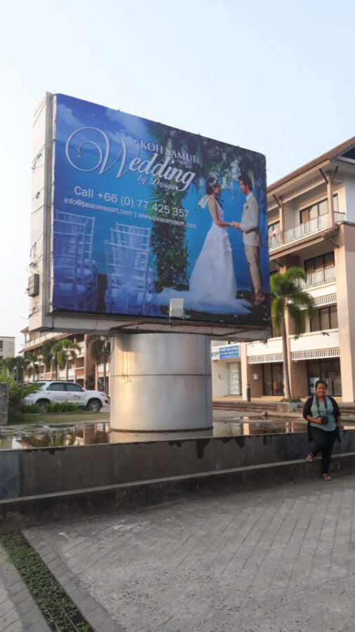 billboard koh samui
