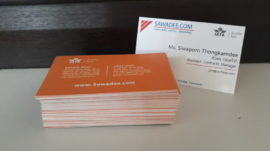 sawadeecom office business card two sided