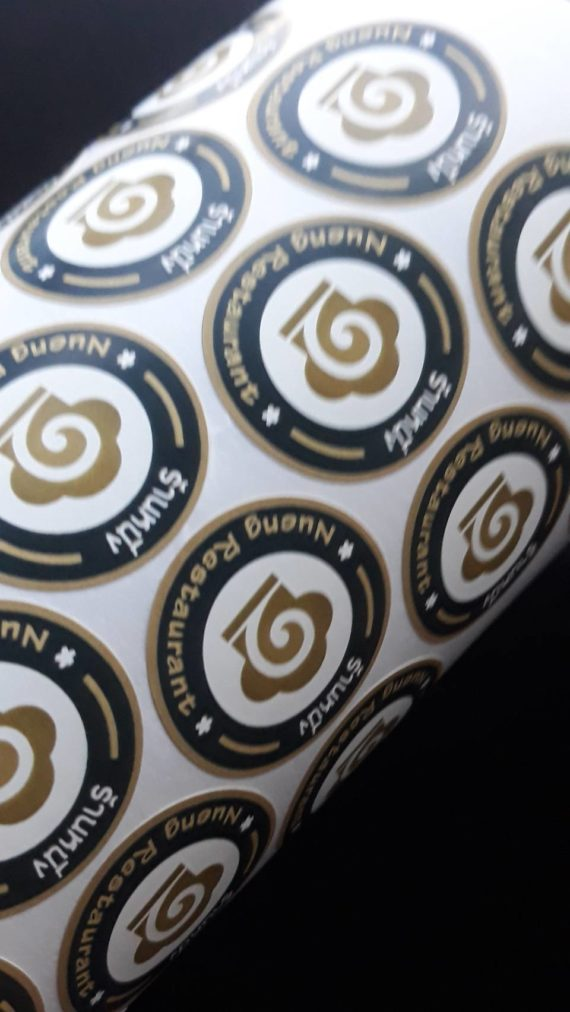 nueng restaurant product sticker label printing