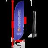 feather beach flag convex blue 200cm with carbon fiber pole