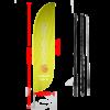 feather beach flag convex edge yellow 345cm with carbon fiber pole