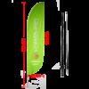 feather beach flag convex edge green 240cm with carbon fiber pole