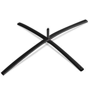 black economy beach flag cross base light weight