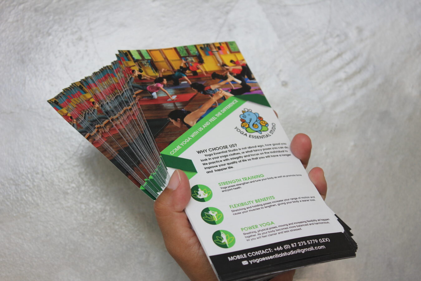 flyer printing and design by chameleon production koh samui, thailand