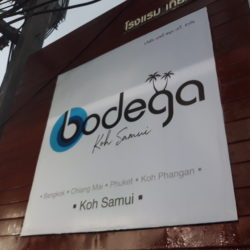 high quality offset Acrylic sign in Bodega hotel in KOh Samui