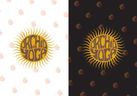 logo design orchid yoga. Sun sunshine logo design