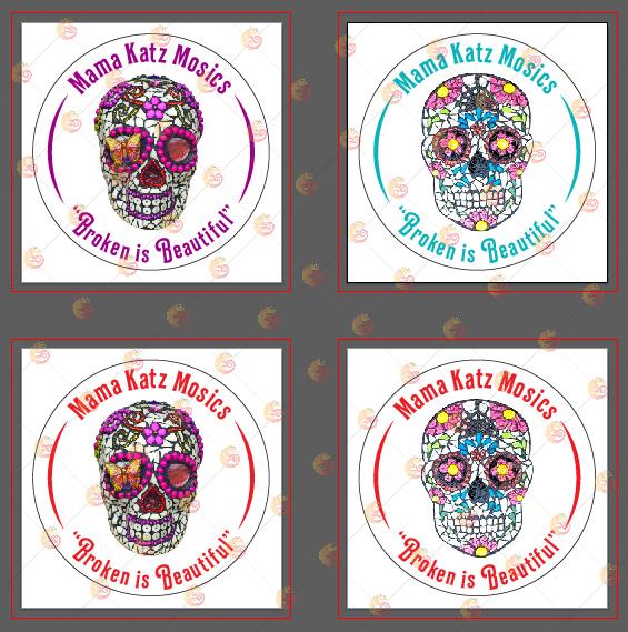 Sticker printing mock up design with Chameleon production Thailand koh samui