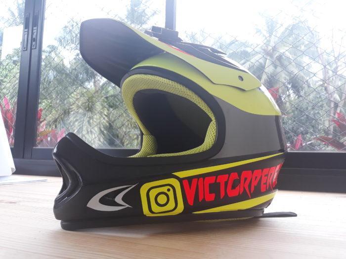 front view helmet sticker