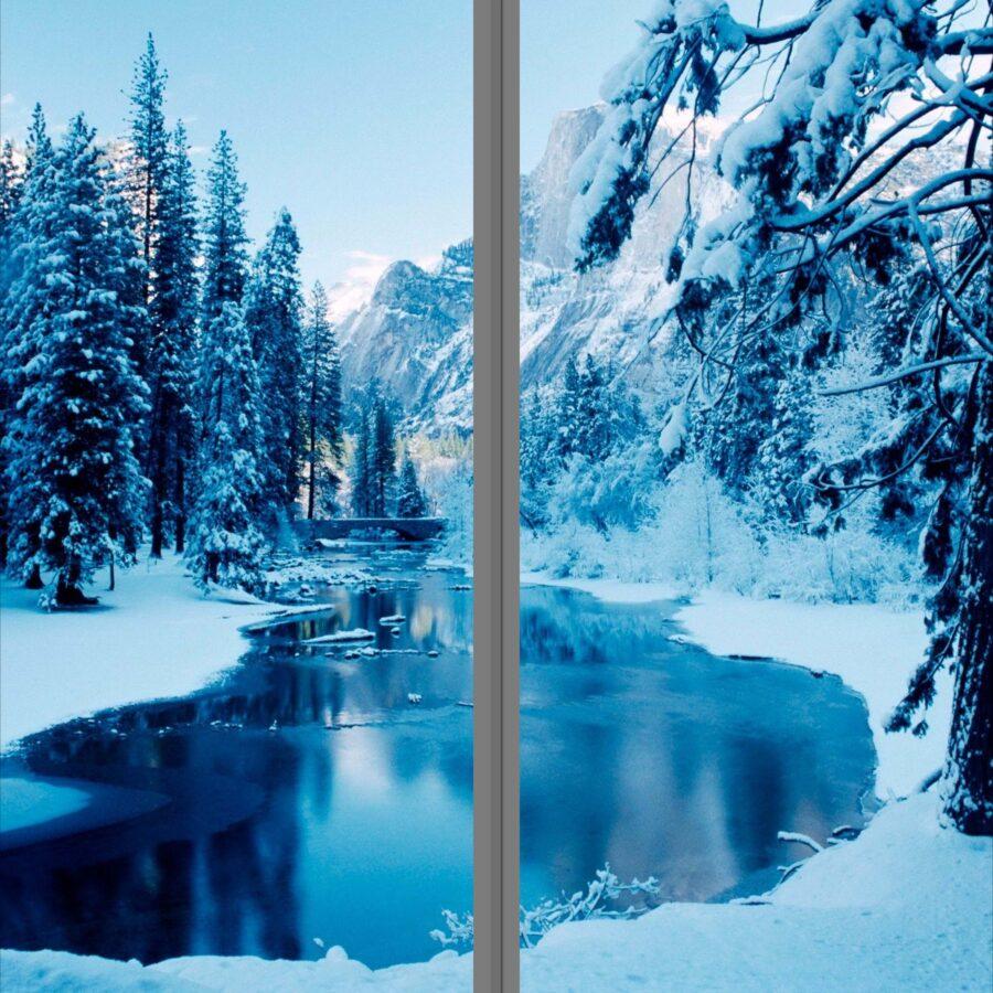 backlit film printing for window for making christmas feeling