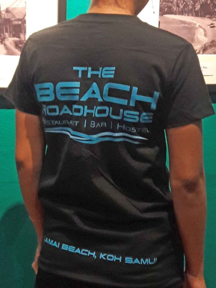 Beach road house t-shirt back side silkscreen print art