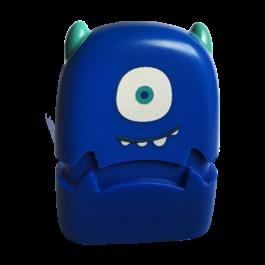 one eye rubber monster stamp smiling before custom design