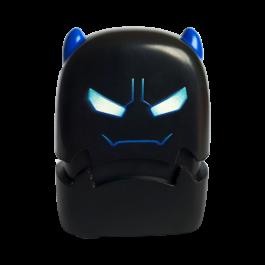 children black evil monster stamp with blue ears waiting custom rubber design