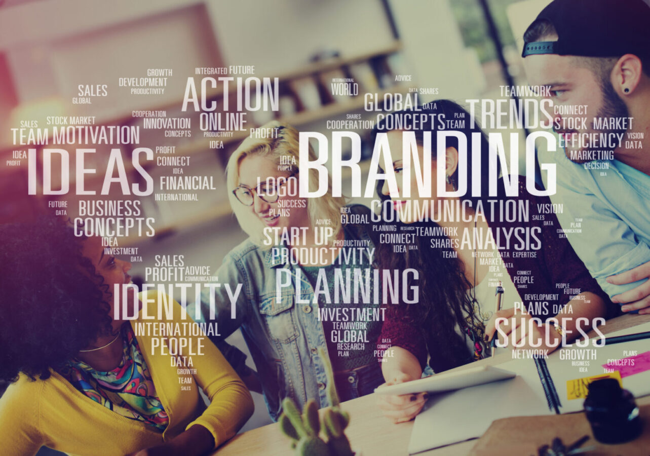 group of people planning business branding strategy